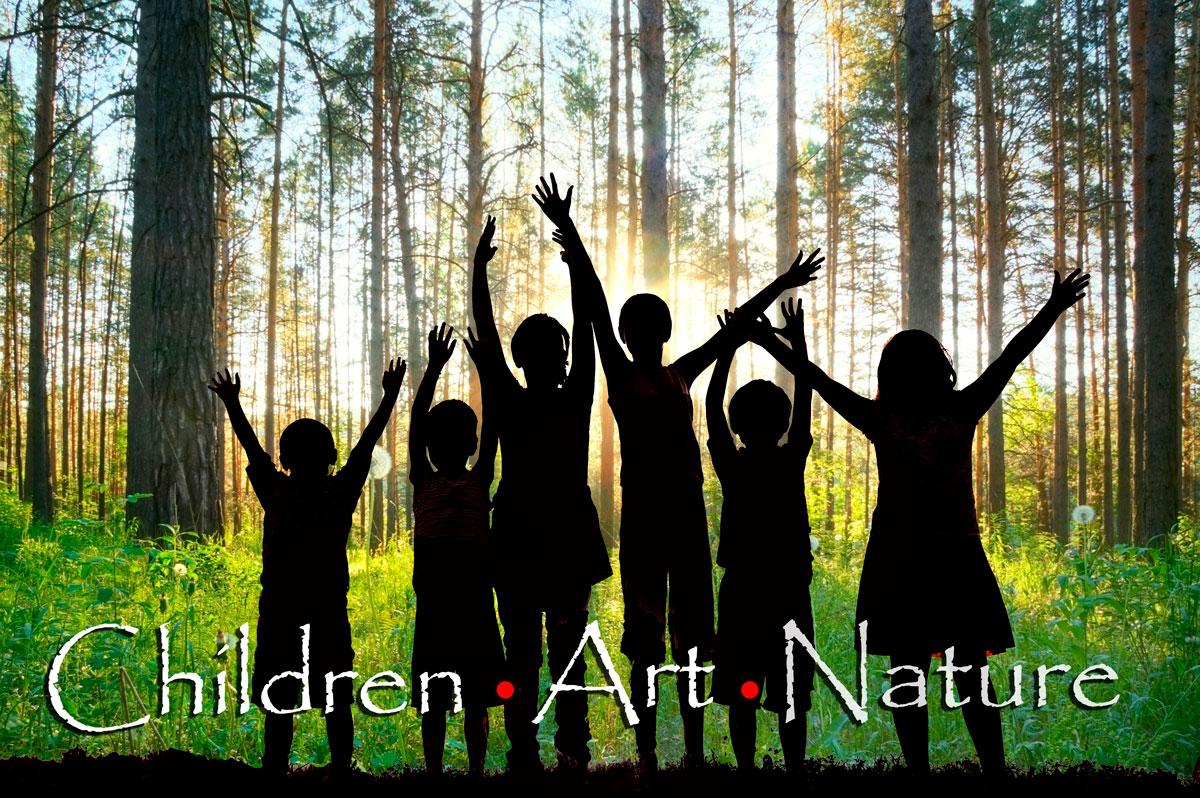 Children . Art . Nature (background: children in the woods)