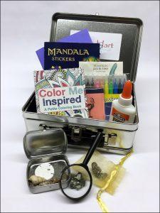 Wonder Box contents (art supplies, etc)