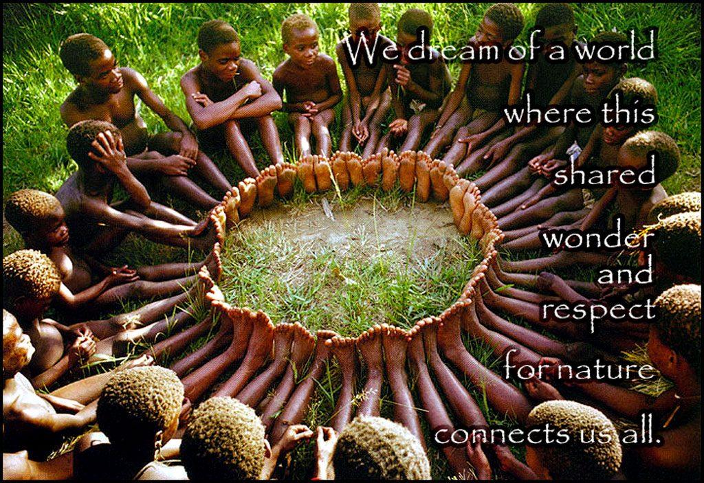 Ubantu children sitting in circle